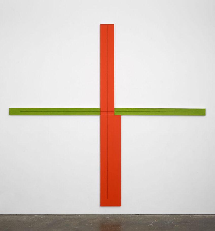 Robert Mangold. Red/Green + Within + Painting, 1982. Cortesía del artista y del Centro de Artes Visuales Fundación Helga de Alvear Cáceres