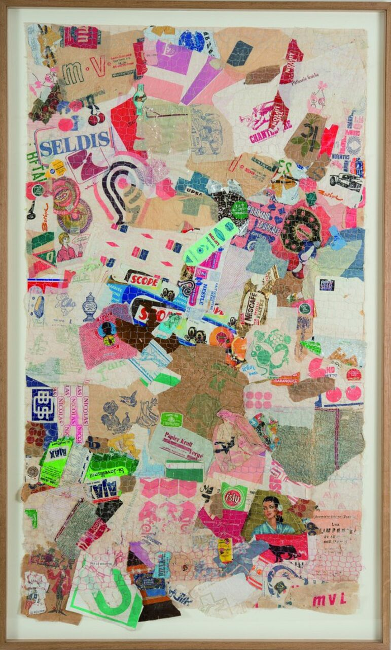 Hessie. Déchets collages grillages (No. Inv. 144), 1978-1979.