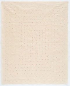 Hessie. Puntas cosidas, 1973-1976. Cortesí a   de  Galerie  Arnaud  Lefebvre