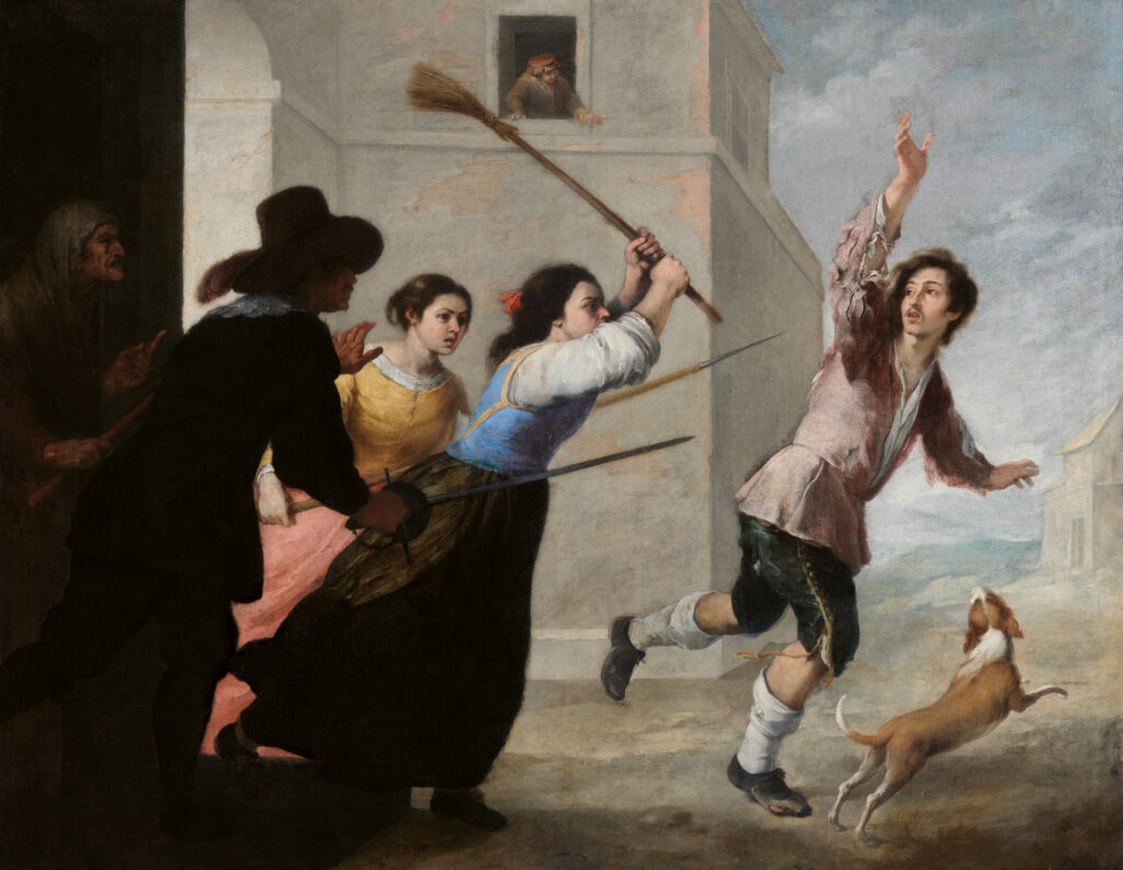 Murillo. El hijo pródigo expulsado por las cortesanas, hacia 1660-1665. National Gallery of Ireland