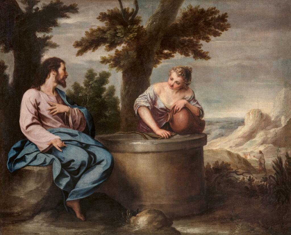 Alonso Cano. Cristo y la samaritana, hacia 1635-1637. Real Academia de Bellas Artes de San Fernando