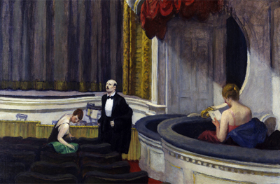 Edward Hopper. Dos en el patio de butacas, 1927. Toledo Museum of Art