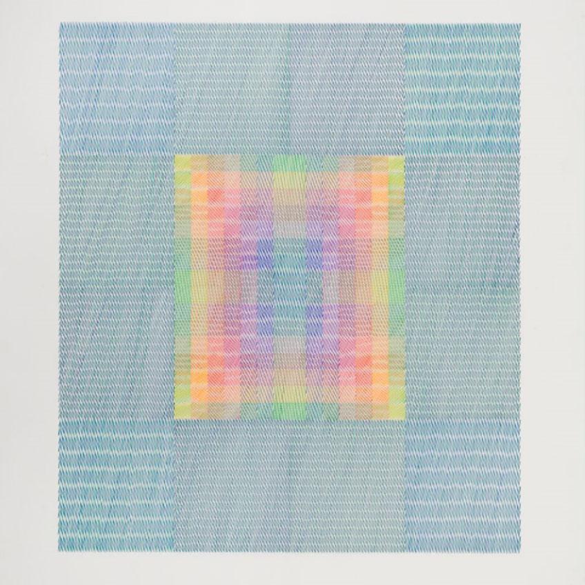 Channa Horwitz. Canon Eleven Moiré Four , 1984 Cortesía de Lisson Gallery y The Channa Horwitz Estate