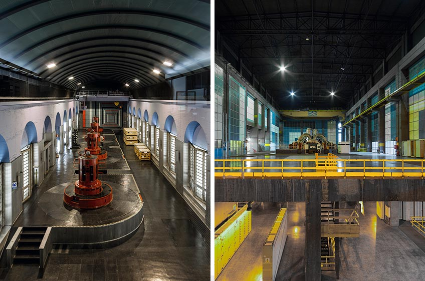 Joaquín Vaquero Palacios. Integración artística en las central hidroeléctrica de Miranda y la central térmica de Aboño (Asturias). Foto: Luis Asín