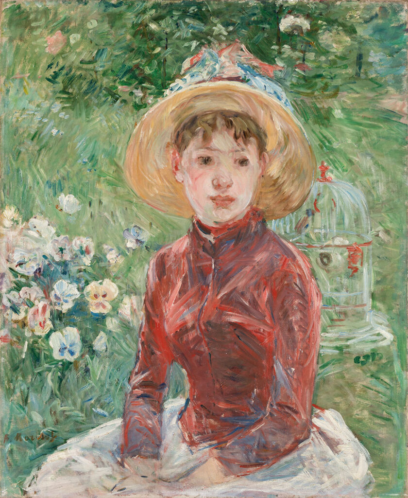 Berthe Morisot. Young Girl on the Grass, the Red Bodice (Mademoiselle Isabelle Lambert), 1885. © Ordrupgaard, Copenhagen