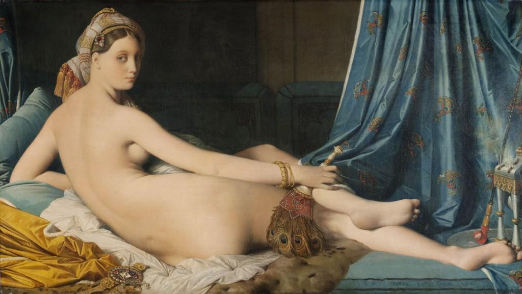 Jean-Auguste Dominique Ingres. La gran Odalisca, 1814. Musée du Louvre