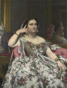 Jean Auguste-Dominique Ingres. La señora Moitessier, 1851. National Gallery of Art, Washington
