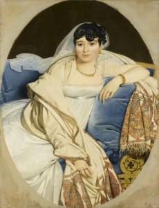 Jean-Auguste Dominique Ingres. Retrato de la señora Rivière, 1805. Musée du Louvre
