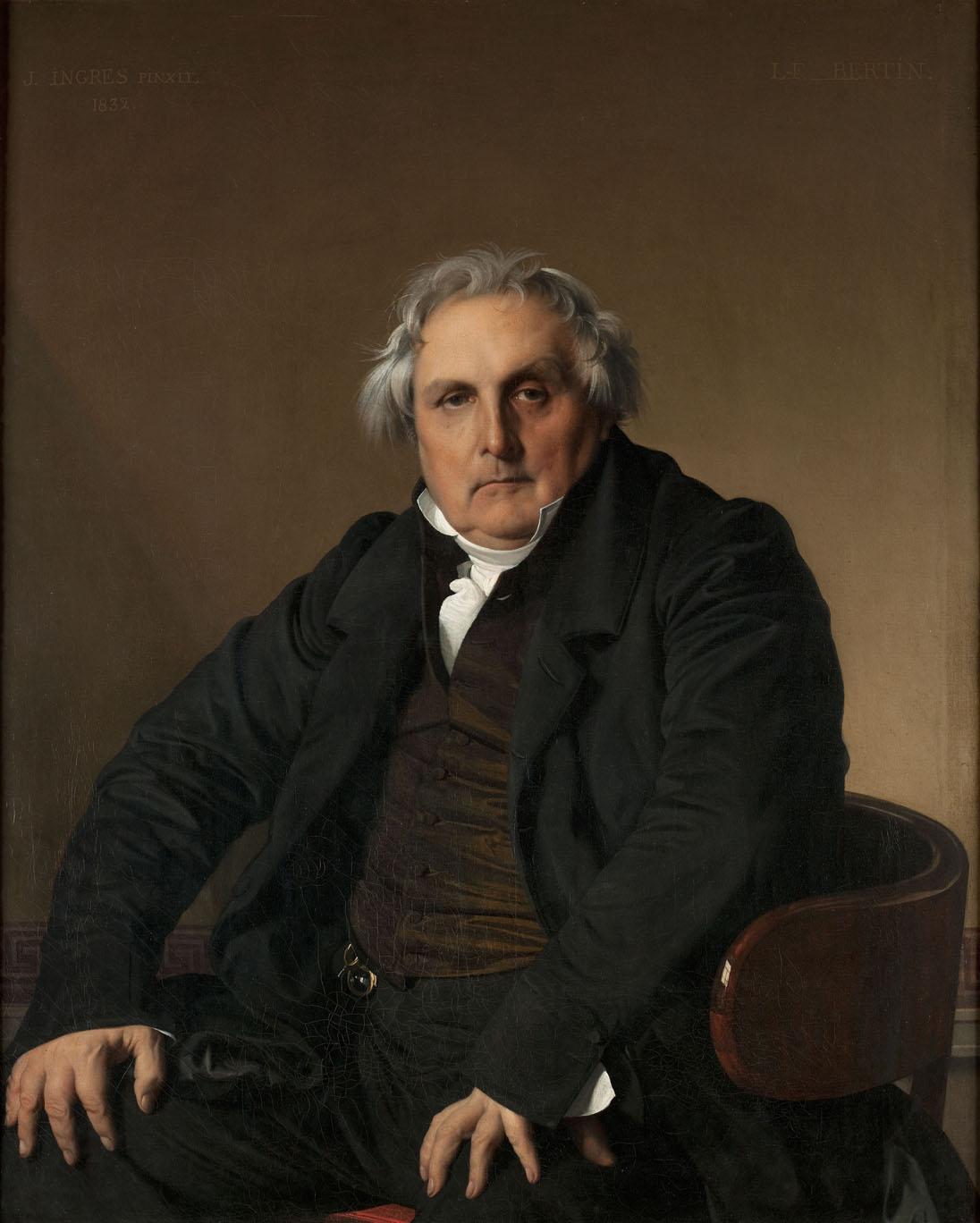 Jean-Auguste-Dominique Ingres. Louis-François Bertin, 1832. Musée du Louvre