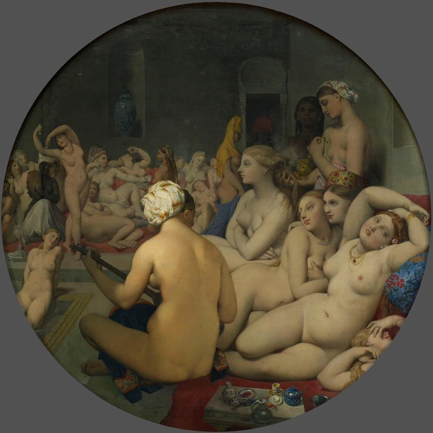 Jean-Auguste-Dominique Ingres. El Baño Turco, 1862. Musée du Louvre