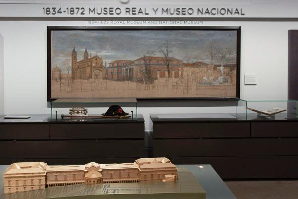 """Instalación """"Historia del Museo del Prado y sus edificios"""". Foto © Museo Nacional del Prado"""