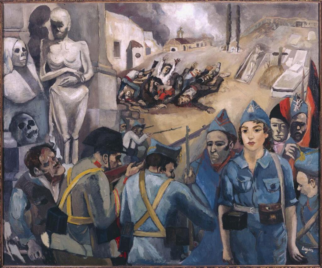 Celso Lagar. Guerra Civil, 1936. Modest Cuixart. Omorka, 1957. Museo Reina Sofía en depósito en el MNAC