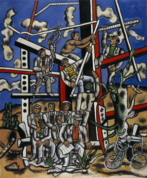 """Fernand Léger. Étude pour """"Les Constructeurs""""; l'equipe au repos, 1950 _ National Galleries of Scotland © Fernand Léger, VEGAP, Valencia, 2019"""