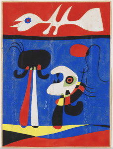 Joan Miró.  Sin título (Diseño para estarcido), hacia 1946. Fundació Joan Miró. © Successió Miró 2018