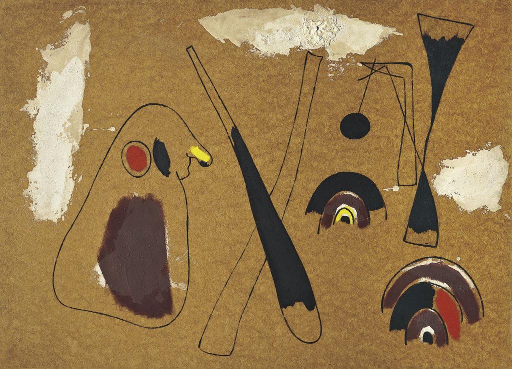 Joan Miró. Pintura (sobre masonite), 1936. Colección Carmen Thyssen, Museo Thyssen-Bornemisza. Successió Miró 2018