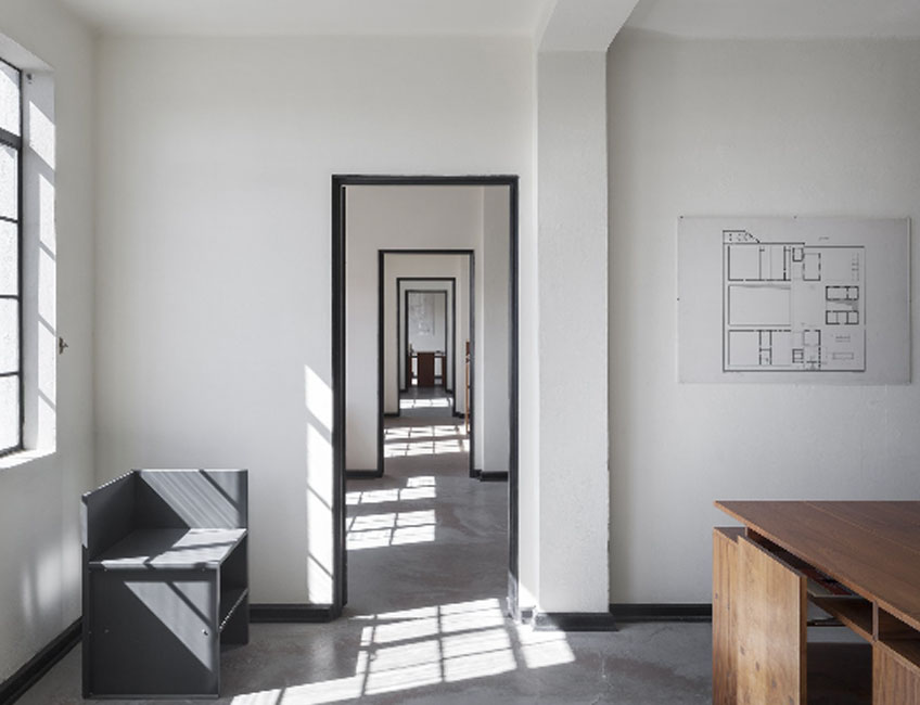 Estudio de arquitectura. Judd Foundation, Marfa, Texas