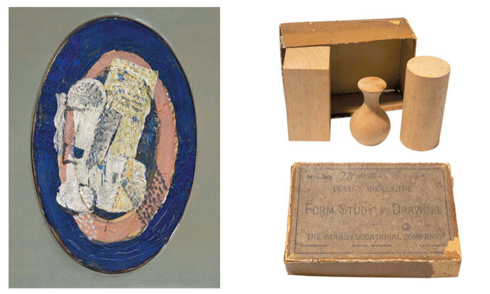 Georges Braque. El vaso, 1918. Colección particular Louis Prang. Prang´s Models for Form Study and Drawing, hacia 1860. Colección Juan Bordes