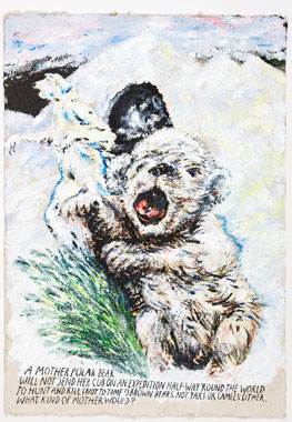 Raymond Pettibon, Untitled (A Mother Polar), 2008. © Raymond Pettibon
