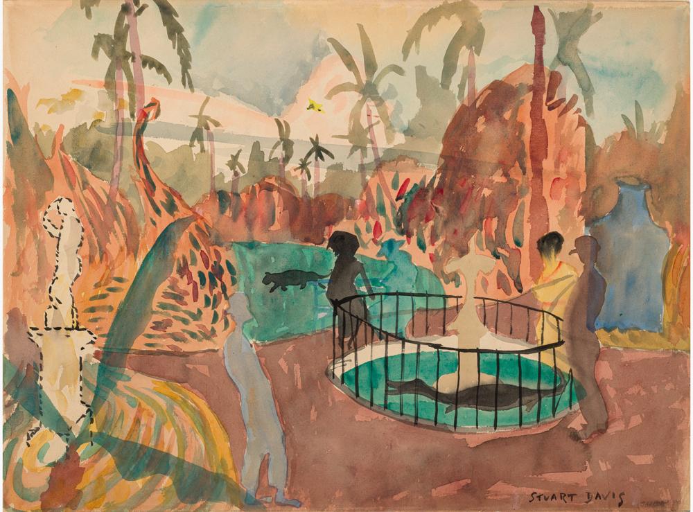 Stuart Davis. Parque Centrale–Cuba, 1920