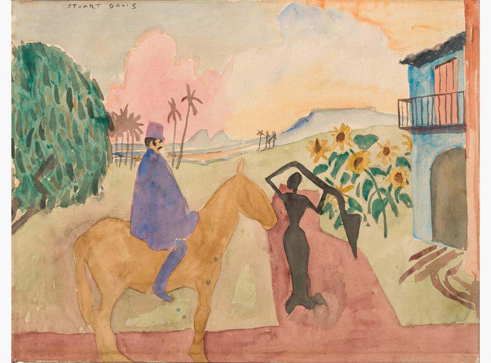 Stuart Davis. Rurales No. 1, Cuba, 1920