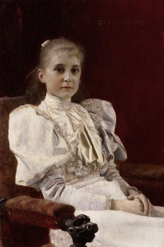 Gustav Klimt. Joven sentada, hacia 1894. Leopold Museum, Viena
