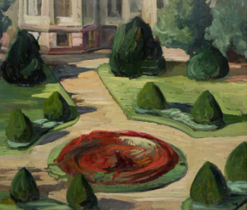Ottilie W. Roederstein. Estudio del Städel Garden, hacia 1910. Stadtmuseum Hofheim am Taunus
