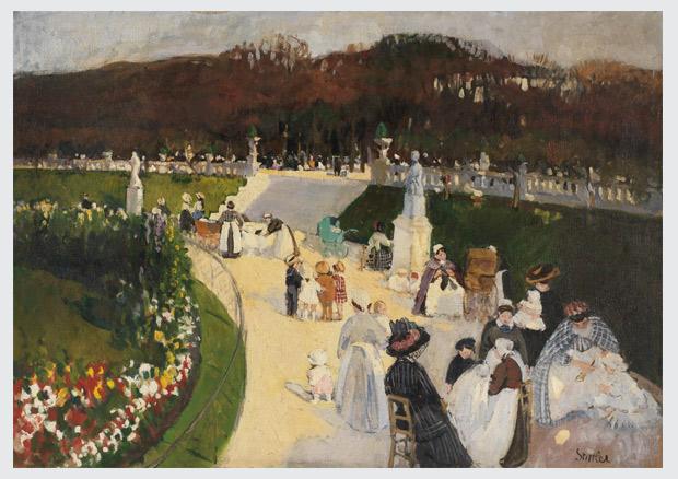 Martha Stettler. Luxembourg-Park in Paris. Kunstmuseum Bern
