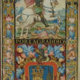 Carta ejecutoria de hidalguía de Felipe III, rey de España, en favor de Diego de Moya y Miguel de Moya, hermanos, vecinos de San Lorenzo de la Parrilla y Villanueva del Palomar. Granada, 7 de noviembre de 1617. IB. 15062.