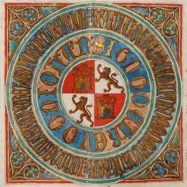 Privilegio rodado de Juan II, rey de Castilla y León, por el que se constituye y establece como ciudad a la villa de Frías y su Muela. Valladolid, 12 de marzo de 1435 (detalle). IM. 538