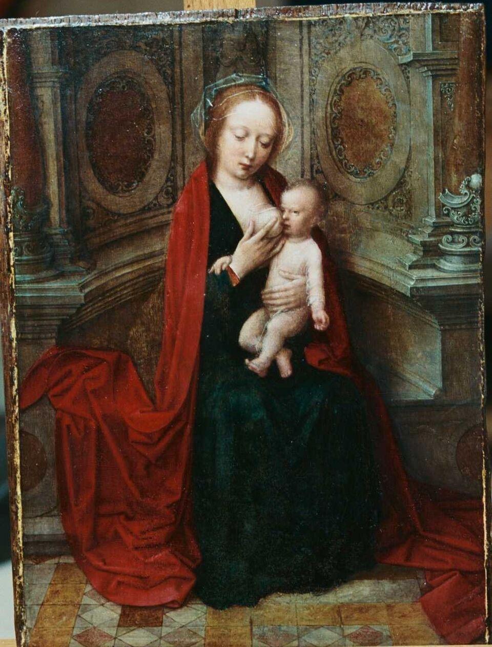 Adriaen Isenbrant.  Virgen de la leche. Museo Lázaro Galdiano