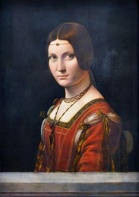 Leonardo da Vinci. Retrato de mujer. © RMN-Grand Palais (musée du Louvre) / Michel Urtado