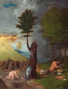 Lorenzo Lotto. Alegoría de la Virtud y el Vicio, 1505. National Gallery of Art, Washington. Samuel H. Kress Collection