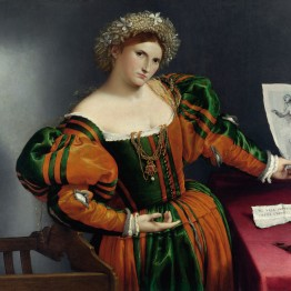 Lorenzo Lotto. Retrato de mujer como Lucrecia, hacia 1530-1532. The National Gallery, Londres