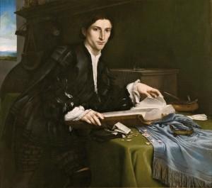 Lorenzo Lotto. Retrato de caballero joven (Cristoforo Rover), 1532. Gallerie dell'Accademia, Venecia