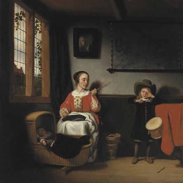 Nicolaes Maes. El tamborilero desobediente, hacia 1655. Museo Thyssen-Bornemisza