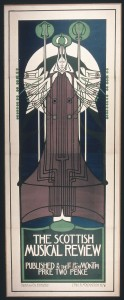 Mackintosh. Cartel para The Scottish Musical Review, 1896