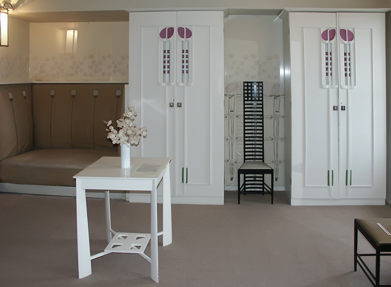 Mackintosh. Dormitorio principal de Hill House, 1902-1904