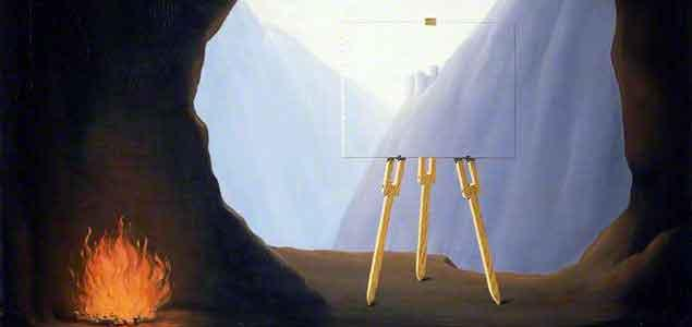 René Magritte. La Condition humaine, 1935. Norfolk Museums Service