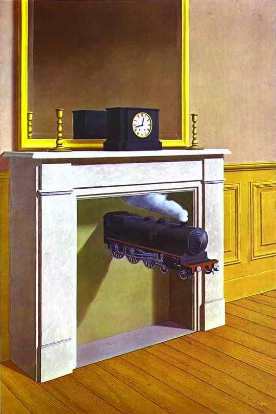René Magritte. La Durée poignardée, 1938. The Art Institute of Chicago, Joseph Winterbotham Collection © Adagp, Paris 2016 © Photothèque R. Magritte / BI, Adagp, Paris, 2016
