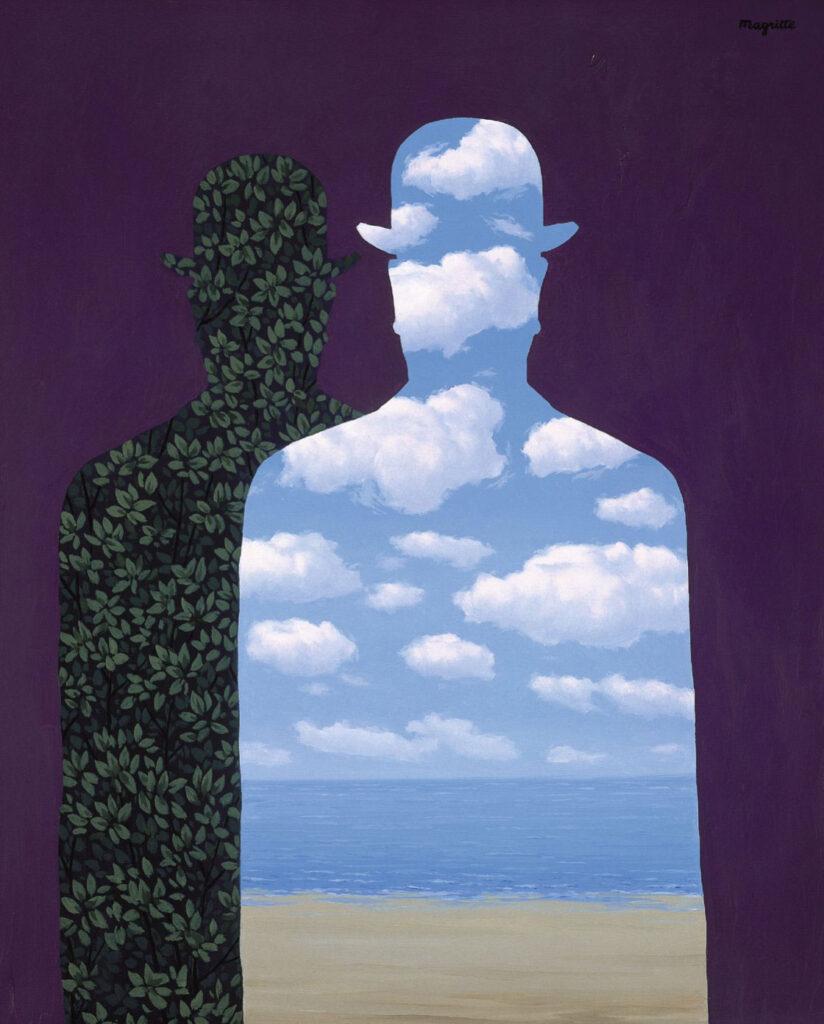 René Magritte. La alta sociedad, 1965 o 1966 Colección Telefónica. Imagen Cortesía de Fundación Telefónica. © René Magritte, VEGAP, Madrid, 2021
