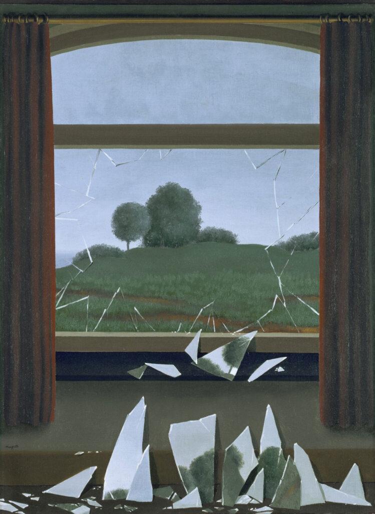 René Magritte. La llave de los campos, 1936. Museo Nacional Thyssen-Bornemisza, Madrid. © René Magritte, VEGAP, Madrid, 2021