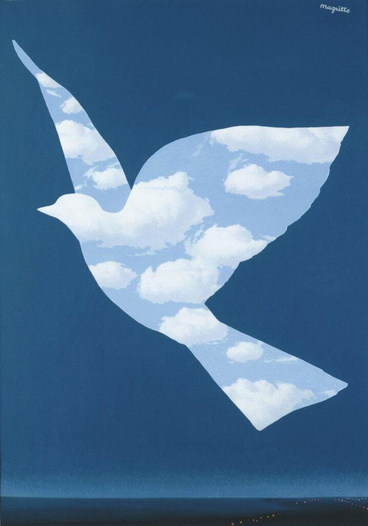René Magritte. El pájaro de cielo, 1966. Colección privada c/o Di Donna Galleries, Nueva York. Courtesy Ludion Publishers. © René Magritte, VEGAP, Madrid, 2021