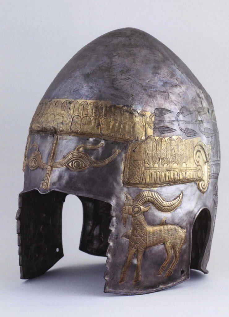 Casco de Peretu, ajuar funerario de tumba principesca geta. Peretu (distrito de Teleorman). Segunda mitad del siglo iv a. C.