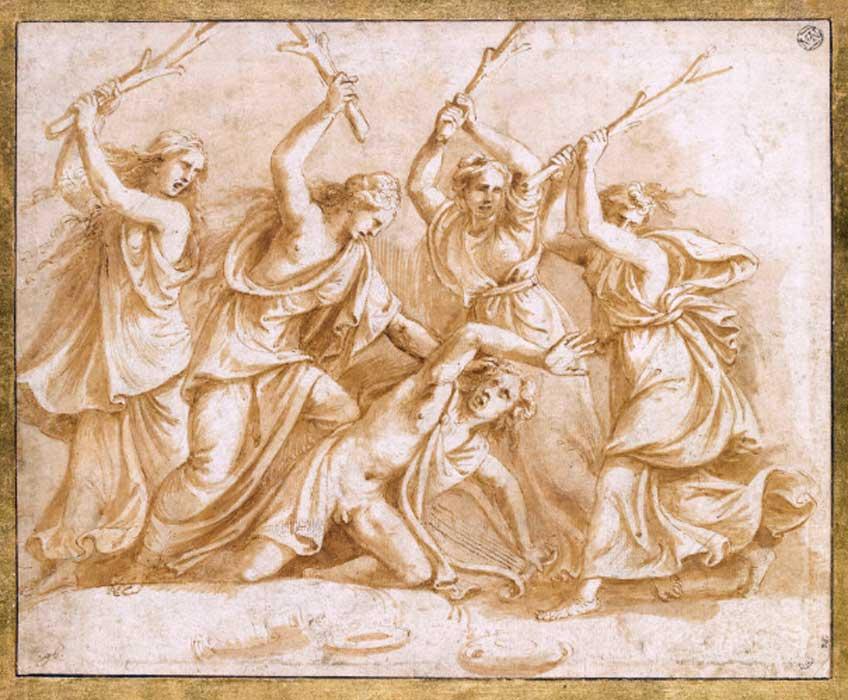Giulio Romano. Muerte de Orfeo. Museo del Louvre