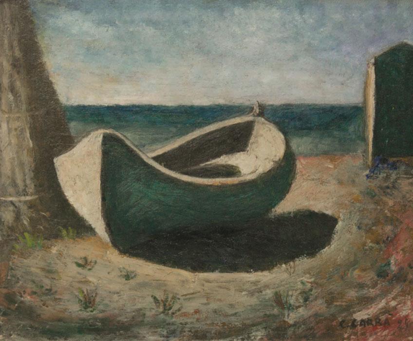 Carlo Carrà. La barca, 1928. Foto: Alvise Aspesi © Carlo Carrà, VEGAP, Madrid, 2018
