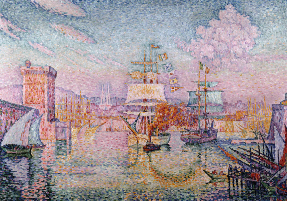 Paul Signac. L'Entrée du port de Marseille, 1911. Musée Cantini (depósito del Musée d'Orsay). Foto: ©Ville de Marseille, Dist. RMN-Grand Palais / Jean Bernard