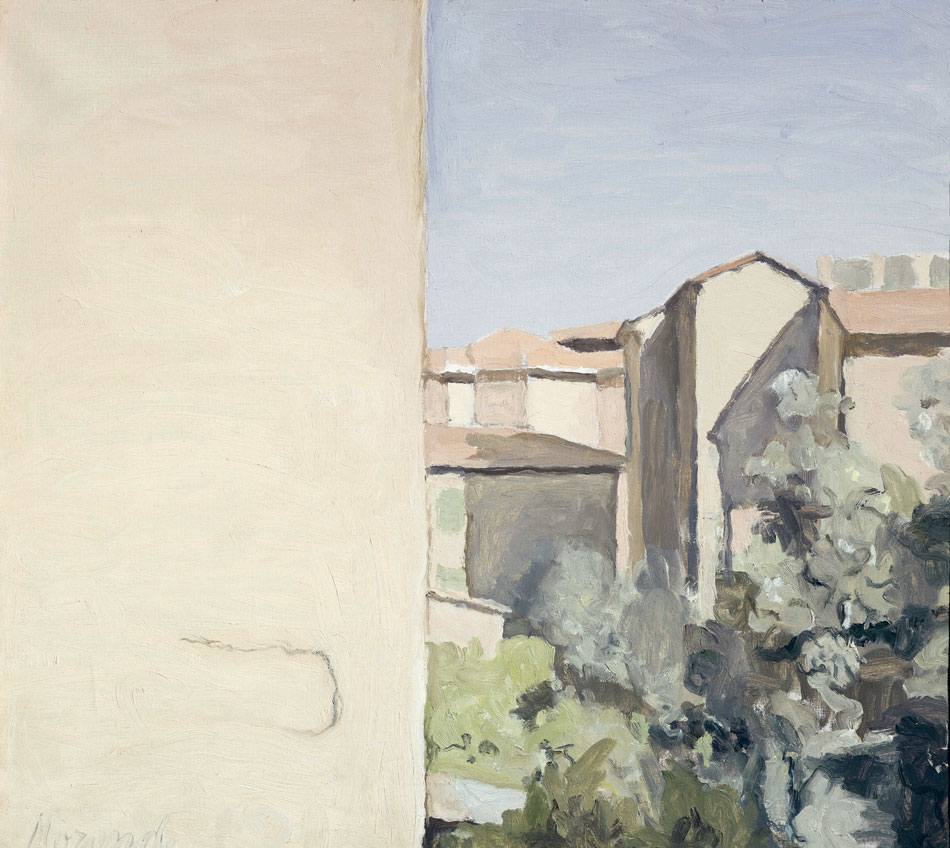 Giorgio Morandi. Cortile di via Fondazza, 1954. Fondazione Magnani-Rocca, Mamiano di Traversetolo, Parma. © Giorgio Morandi, VEGAP, Madrid, 2021