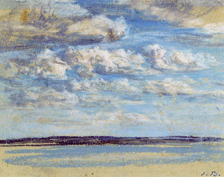 Eugène Boudin. Nuages blancs, ciel bleu, hacia 1859. Musée Eugène Boudin, Honfleur. © H. Brauner
