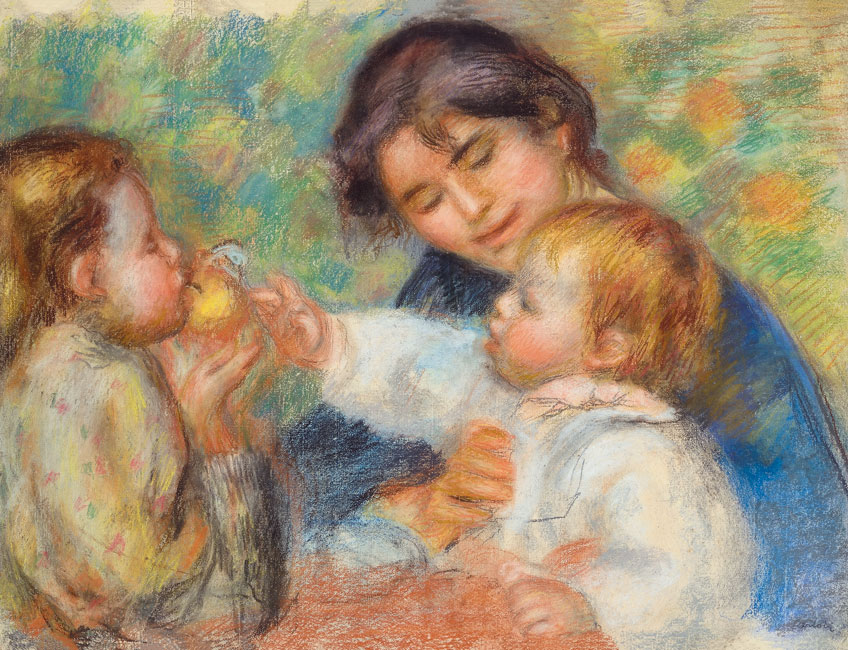 Renoir. La niña de la manzana o Gabrielle, Jean Renoir y una niña, 1895-1896. Colección Mrs. Leone Cettolin Dauberville © Jean-Louis Losi