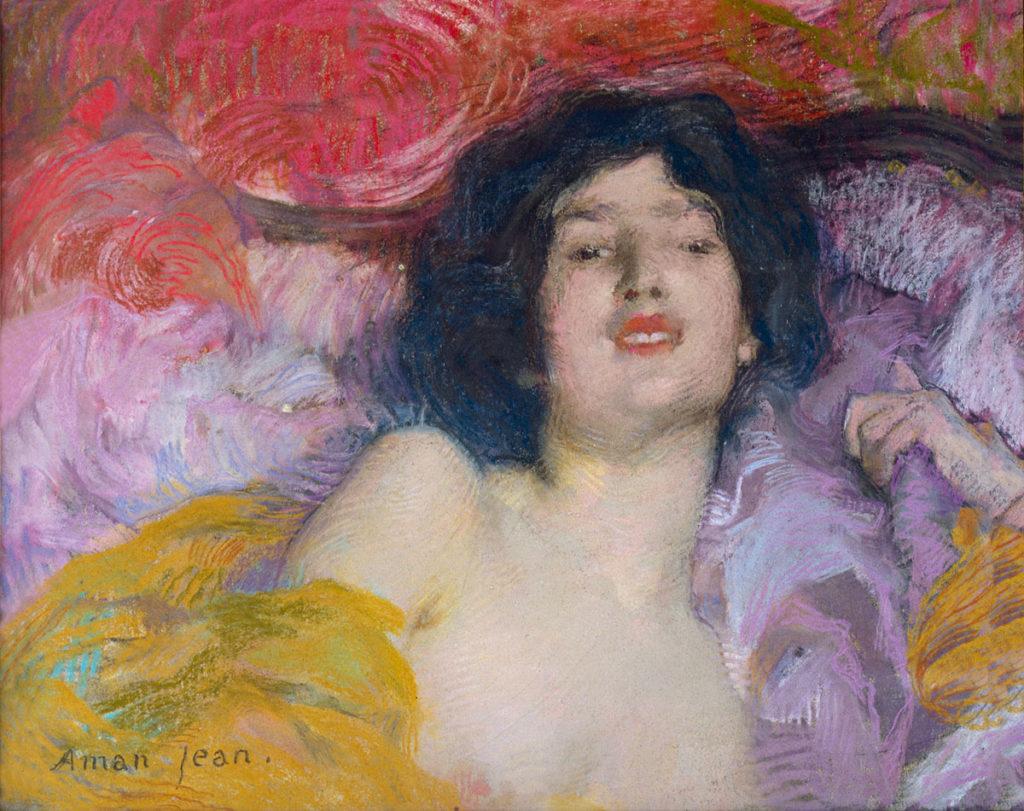 Edmond Aman-Jean. Mujer tumbada. Ensoñación, 1897. Colección Lucile Audouy © Thomas Hennocque